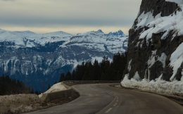 The Mountain Drive To Flaine, France