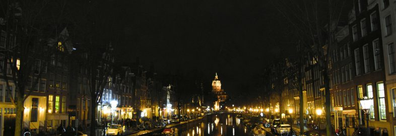 The Netherlands Canal At Night