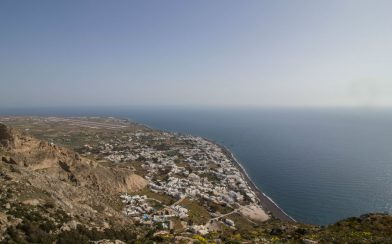 The Overlook On The Town From Ancient Thera