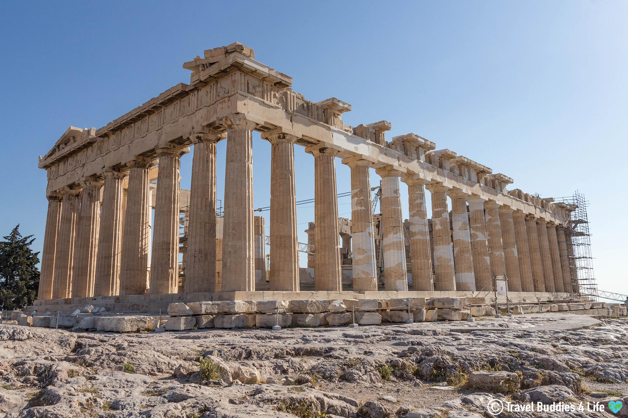The Parthenon In The Acropolis Of Athens, Greece Historic Places, Europe
