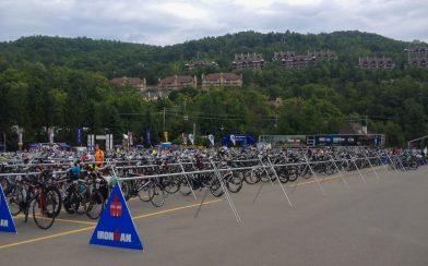 The Racks Of Bicycles At The Ironman Mont Tremblant
