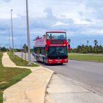 The Red Double Decker Resort Bus in Cuba