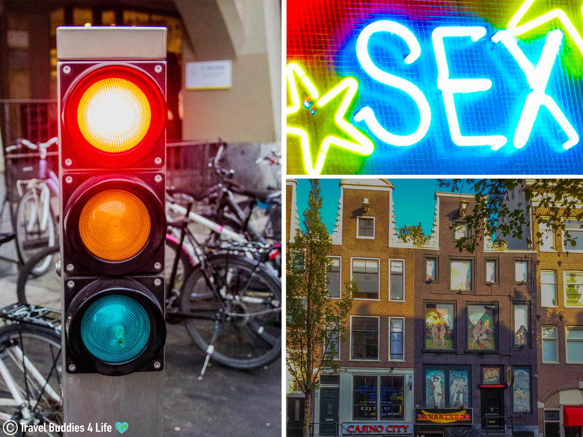 The Red Light Sex District Of Amsterdam During The Day, The Netherlands