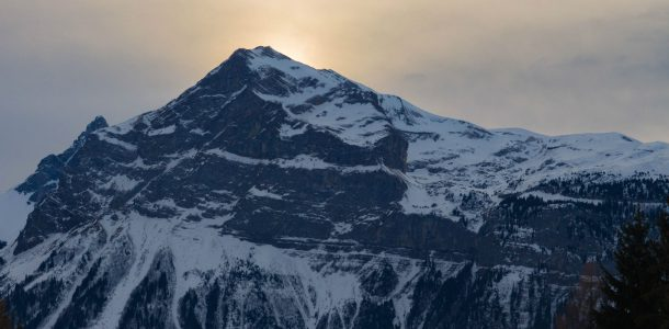 The Sun Behind The French Alps