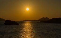 The Sunset on the Aegean Sea