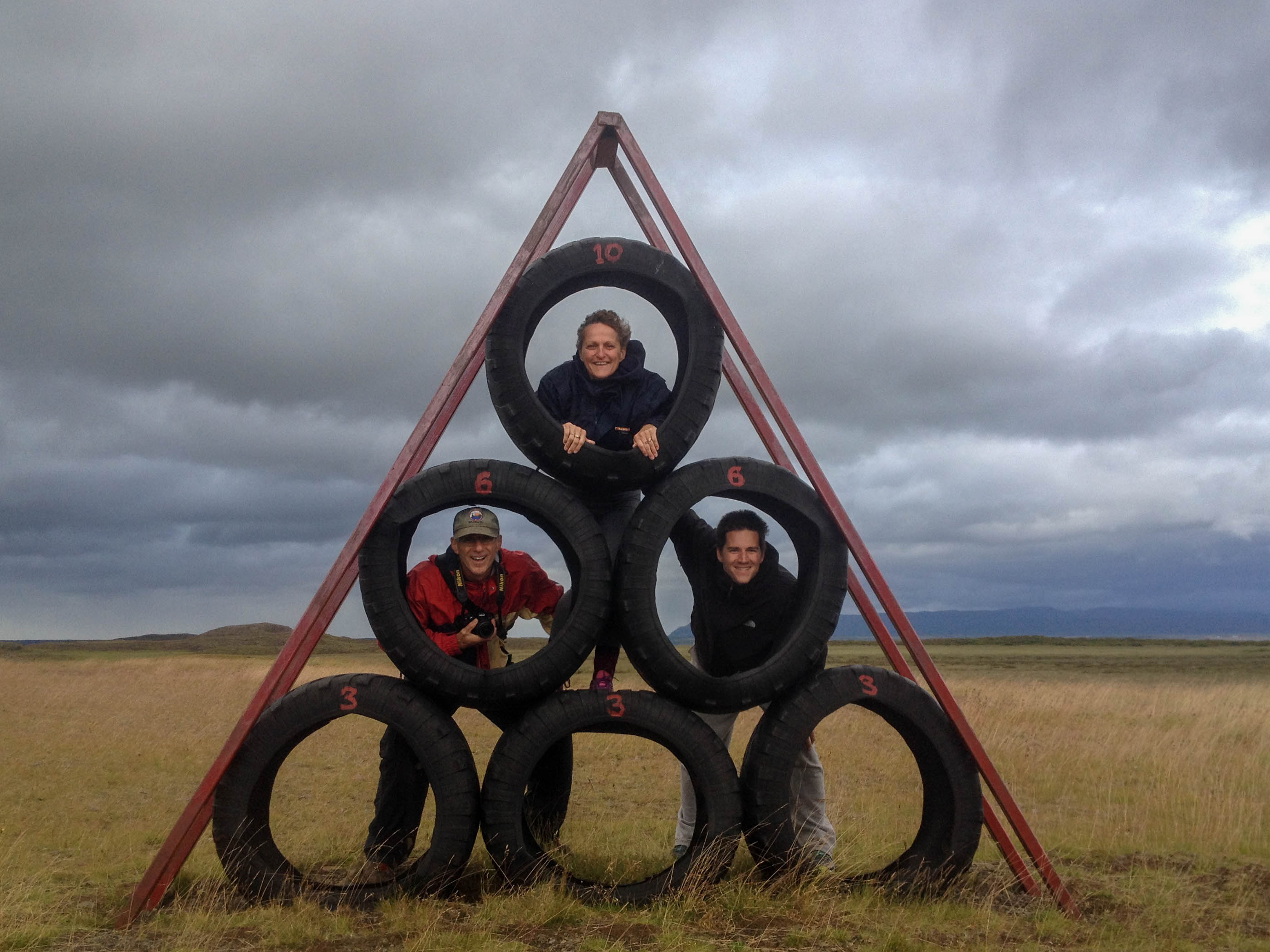 The Tire Pyramid at the Iceland Troll Gardens