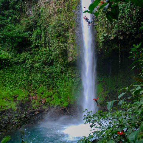 The La Fortuna Waterfall Pool in Costa Rica