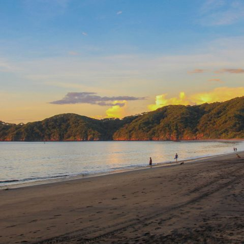 The Golden Costa Rican Beach Cliffs