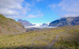 Trail to Icelandic Glacier