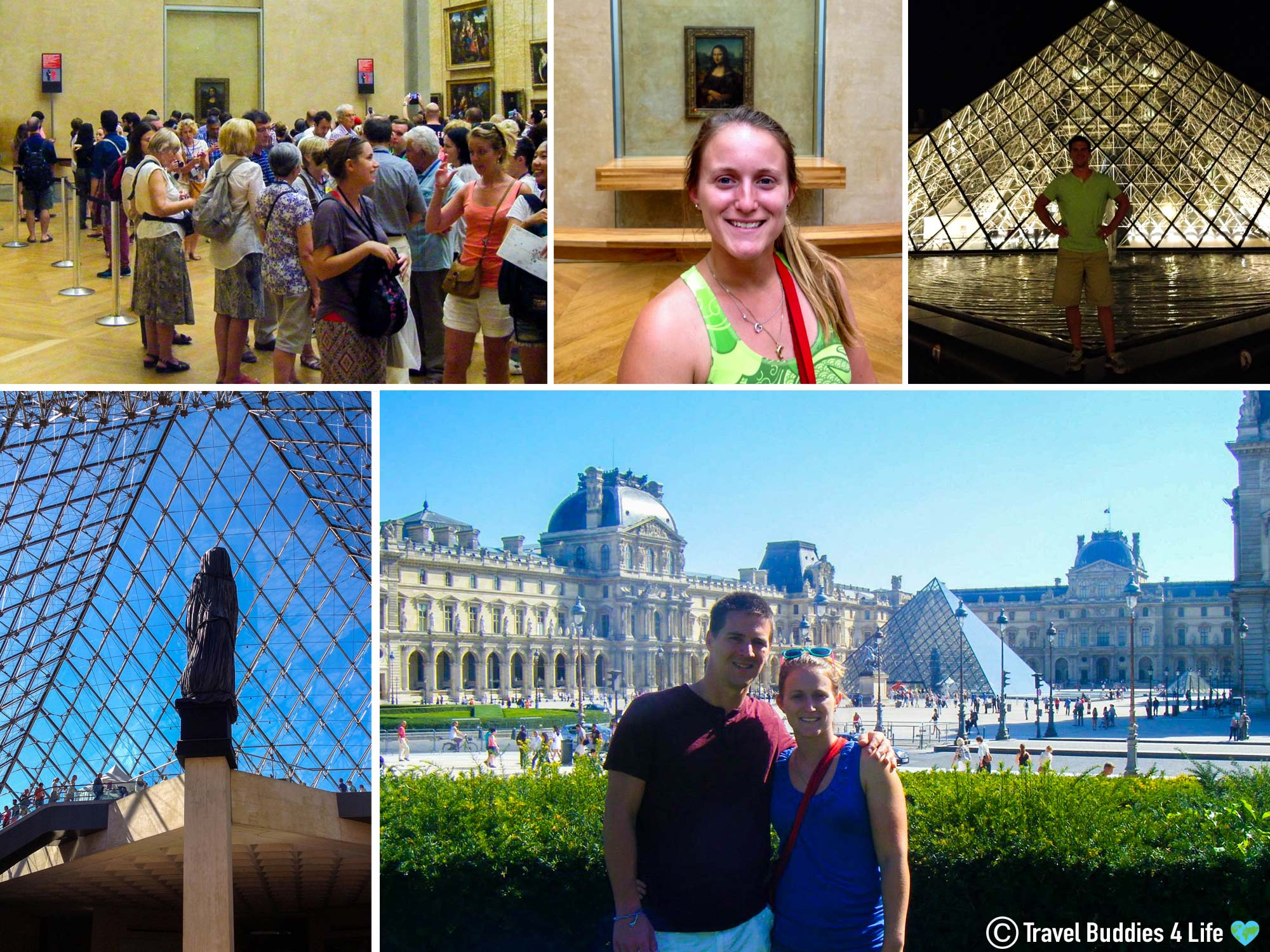 Traveling Couple Visiting The Louvre Museum In Paris, France