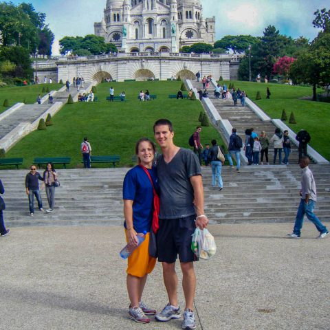 Us at the Foot of Sacre Coeur