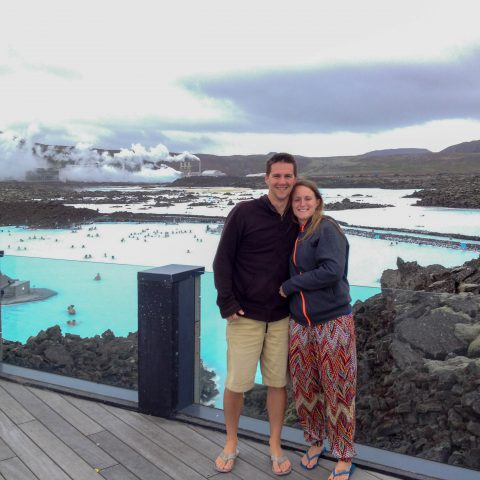 Us overlooking the Blue Lagoon
