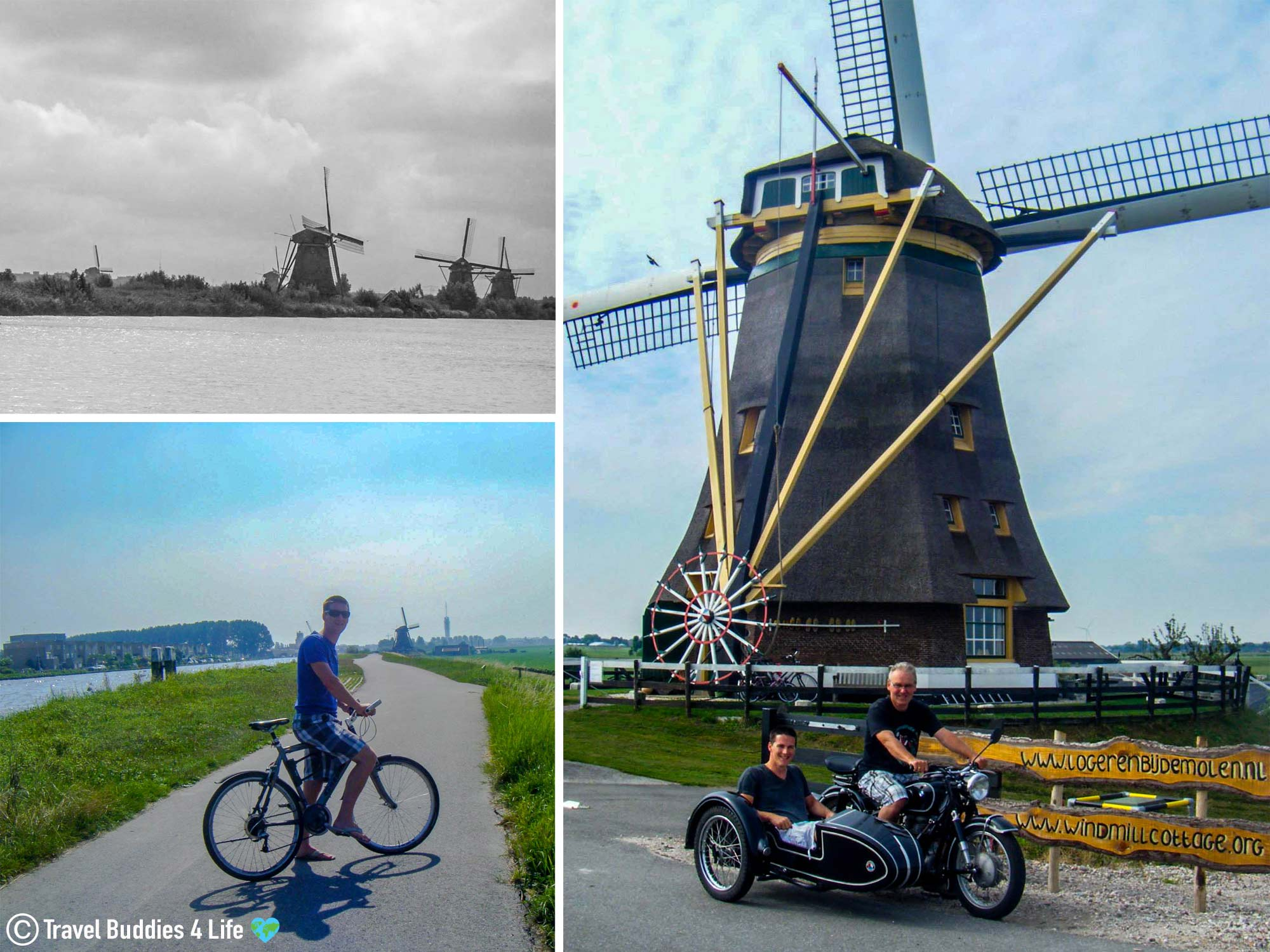 Visiting The Antique Windmills Around The Netherlands Via Motorcycle, Bike And On Foot, Europe