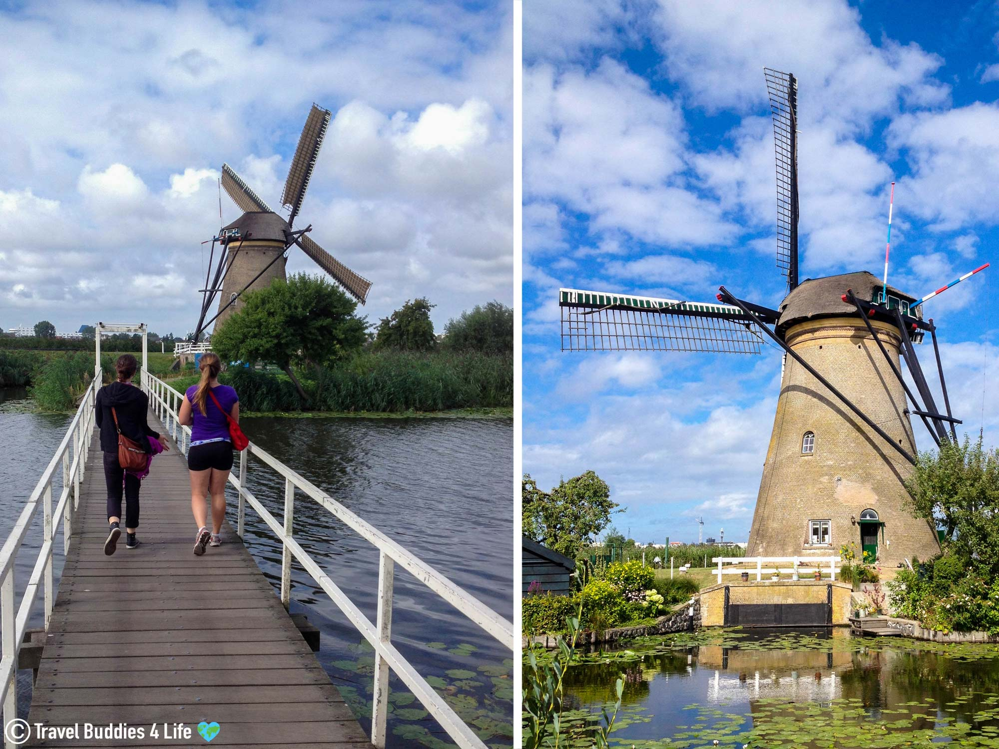 Walking The Paths Of The Kinderdijk, The Netherlands, Europe