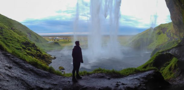 Seljalandsfoss Waterfall with Ali